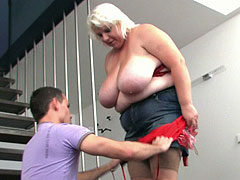 Steamy BBW fucked and he cums