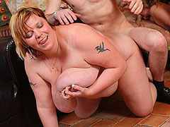 Fat cunt fucked and a load is dumped