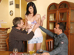 Guy cuckolded at housewarming party