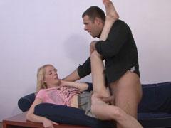 Blonde wife enjoys strangers cock