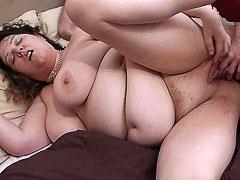 Chubby slut picked up and banged