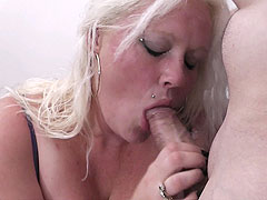 Kinky fat blonde sucks and fucks