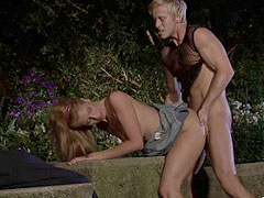 Romantic outdoor cuckolding