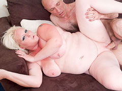 Blonde fattie stabbed with dick