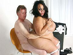 Black BBW hottie fucks husband
