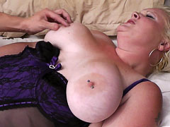Kinky BBW blonde shafted hard
